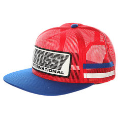 Бейсболка с сеткой Stussy Bmx Trucker Cap Red