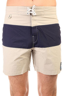 Шорты пляжные Penfield New England 2tone Board Short Tan/Ink