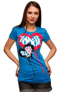 Футболка женская Zoo York Tough Love Tee Blue Heather