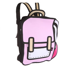 Рюкзак городской Jump from paper 2D Pink Backpack Pink/White/Black