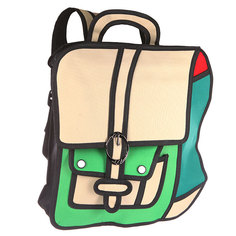 Рюкзак городской Jump from paper 2D Green Backpack Green/Biege/Black