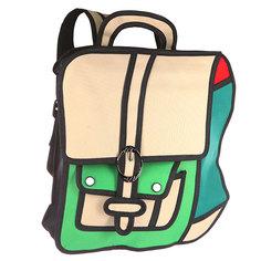 Рюкзак городской Jump from paper 2D Green Backpack Green/Biege/Black