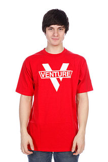 Футболка Venture Vlogo Red/White