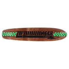 Дека для скейтборда для лонгборда Real Zip Ziiiiiiiinger Brown 35.55 x 7.5 (19.1 см)