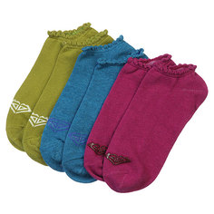 Носки низкие женские Roxy 3pk No Showhthr Gripper Logo Ns Multi