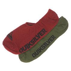 Носки низкие Quiksilver 2pk True No Show Rosewood Multi