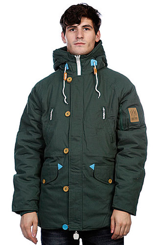 Куртка парка True Spin Alaska Jacket Hunter Green/Leopard