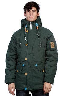 Куртка парка True Spin Alaska Jacket Hunter Green/Leopard