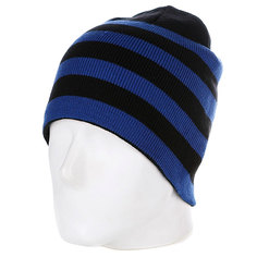 Шапка Urban Classics 2 Stripe Beanie Black/Royal