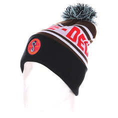 Шапка с помпоном TrueSpin Cobra Pom Beanie Brown/White/Black