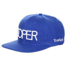 Бейсболка с прямым козырьком TrueSpin Doper Snapback Royal