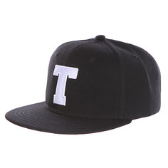 Бейсболка с прямым козырьком Truespin Abc Black T