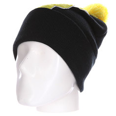 Шапка Truespin Abc Pompom Beanie Black/Yellow F