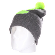 Шапка Truespin Abc Pompom Beanie Grey/Lime C