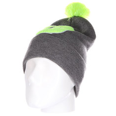 Шапка Truespin Abc Pompom Beanie Grey/Lime G
