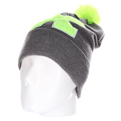 Шапка Truespin Abc Pompom Beanie Grey/Lime X