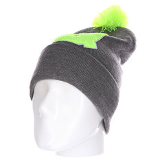 Шапка Truespin Abc Pompom Beanie Grey/Lime Q