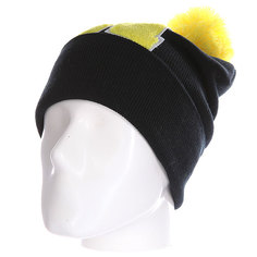 Шапка Truespin Abc Pompom Beanie Black/Yellow H