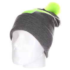 Шапка Truespin Abc Pompom Beanie Grey/Lime Y