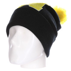 Шапка Truespin Abc Pompom Beanie Black/Yellow N