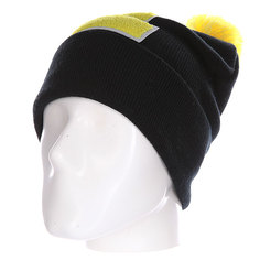 Шапка Truespin Abc Pompom Beanie Black/Yellow E