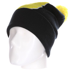 Шапка Truespin Abc Pompom Beanie Black/Yellow B