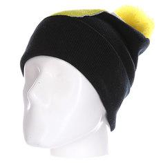 Шапка Truespin Abc Pompom Beanie Black/Yellow J