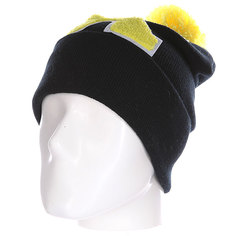 Шапка Truespin Abc Pompom Beanie Black/Yellow X