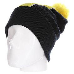 Шапка Truespin Abc Pompom Beanie Black/Yellow T