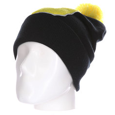 Шапка Truespin Abc Pompom Beanie Black/Yellow D