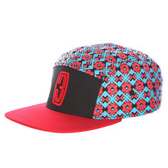 Бейсболка пятипанелька Запорожец 3 Logo 5 Panel Black/Red