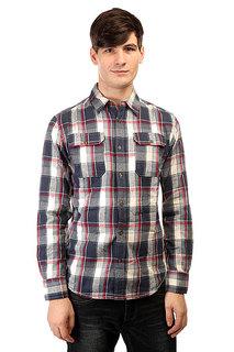 Рубашка в клетку Burton Mb Brighton Ls Wvn Smk Blu Impulse Pld
