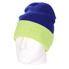 Шапка двусторонняя Skills New Reversible Beanie Royal Lime