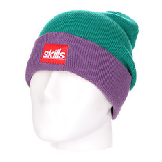 Шапка носок Skills New Sport Beanie Light Green/Purple