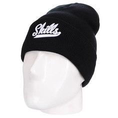 Шапка Skills Script White Logo Black