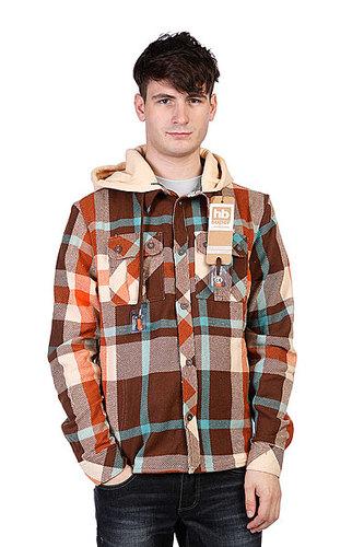Рубашка с наушниками Hoodiebuddie Woodsman Brown