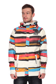 Толстовка сноубордическая Neff Painted Stripe Shred White/Red