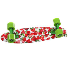 Скейт мини круизер Turbo-FB Stawberry Grass Red/Green/White 22 (56 см)