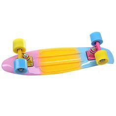 Скейт мини круизер Turbo-FB LikeaP Pink/Yellow/Blue 22 (56 см)