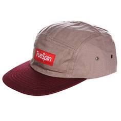 Бейсболка TRUESPIN Dezert 5 Panel Cap Grey Burgundy