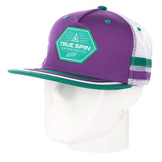 Бейсболка с сеткой True Spin Sport Trucker Purple/White