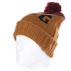 Шапка с помпоном Analog Endorse Beanie Leather Brown