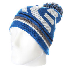 Шапка с помпоном Oakley Factory Winter Beanie Skydiver Blue