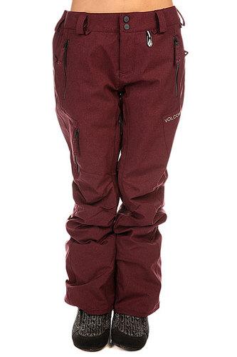 Штаны сноубордические женские Volcom Recoil Ins Pant Burgundy