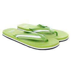 Шлепанцы Urban Classics Flip Flops Limegreen/White