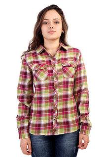 Рубашка в клетку женская Marmot Wms Bridget Flannel Ls Berry Rose