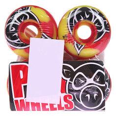 Колеса для скейтборда для скейтборда Pig Head Swirl Red 101A 54 mm