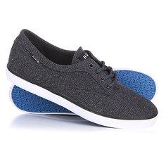 Кеды кроссовки низкие Huf Sutter Dark Grey Textile