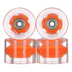 Колеса для скейтборда для лонгборда с подшипниками Sunset Cruiser Wheel With Abec9 Orange 78A 59 mm