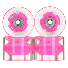 Колеса для скейтборда для лонгборда с подшипниками Sunset Cruiser Wheel With Abec9 Pink 78A 59 mm